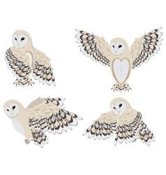 Cartoon barn owl3 vector