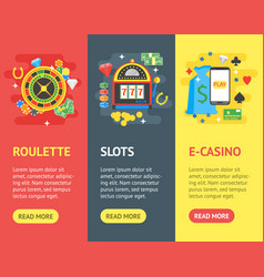 casino banner vecrtical set gambling game vector image