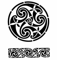 Celtic design works vector image