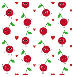 Cherry seamless pattern vector