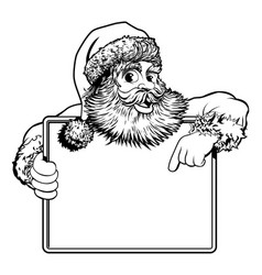 Christmas santa claus sign vector