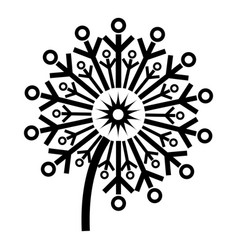 circle dandelion icon simple style vector image