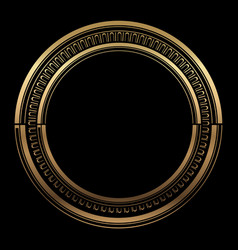 Circle pattern gold on black background vector