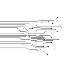 Circuit logo template vector
