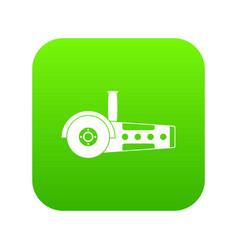 Circular saw icon digital green vector