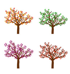 colorful autumn trees vector image