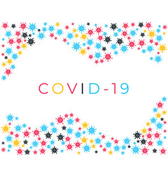 corona virus or covid-19 cells background new vector image