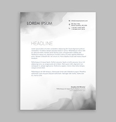 creative flowing ink letterhead design vector image