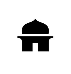 cute and simple mosque symbol vector image