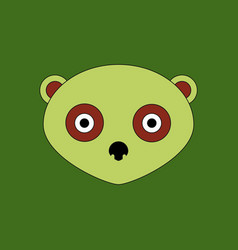 cute panda face icon vector image