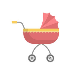 cute red girl bastroller with yellow ornament vector image
