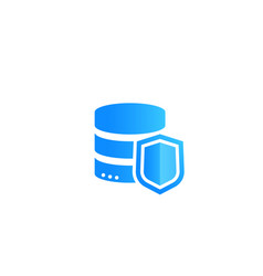 Database security and data protection icon vector