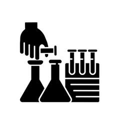 diy science black glyph icon vector image