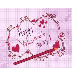 Doodles valentine background vector