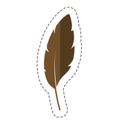 Dry leaf icon vector