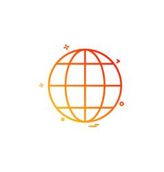 earth globe multimedia icon design vector image