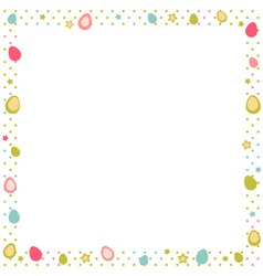 Easter eggs colorful frame with polka dot vector