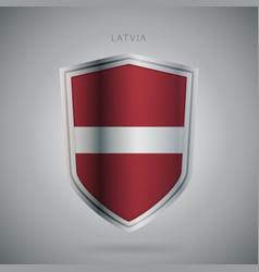 Europe flags series latvia modern icon vector