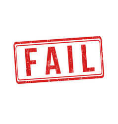 fail sign or stamp vector image