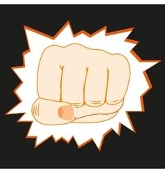 Fist overpunching wall vector