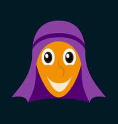 Flat icons on theme arabic business arabic man vector
