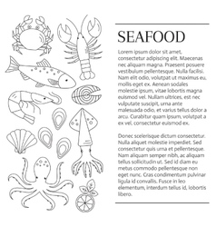 Fresh seafood background vector image