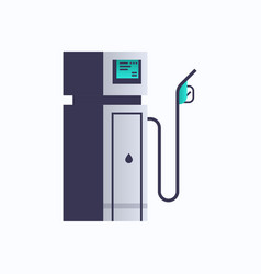 gas petroleum fuel station pump icon oil industry vector image