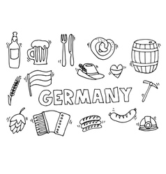 Germany travel set vector