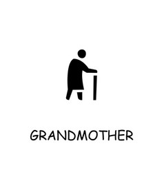 Grandmother flat icon vector