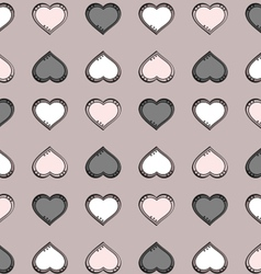 Gray heart Pattern vector image