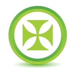 Green Crusaders icon vector