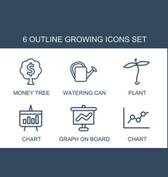 growing icons vector image