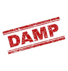 Grunge textured damp stamp seal vector