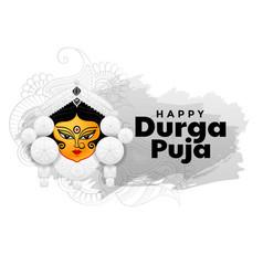 Happy durga pooja hindu festival background design vector