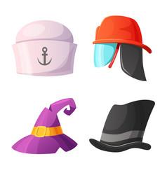 headwear and cap logo vector image