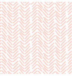 Herringbone soft pink hand drawn simple seamless vector