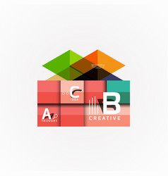 Infographic options banner paper style vector