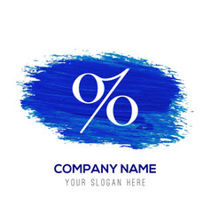 Labels percent price icon - blue watercolor vector