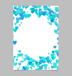 Light bluerandom heart page background design vector