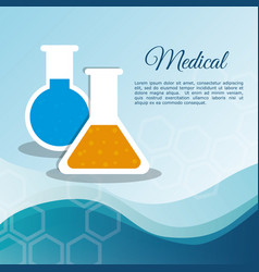 Medical laboratory test tube vector