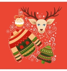 Merry Christmas collection of elements vector image