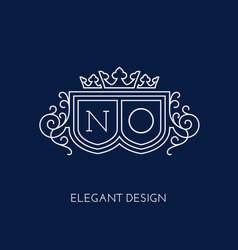 monogram design template vector image