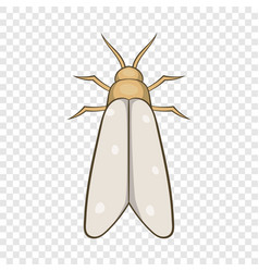 Moth icon cartoon style vector