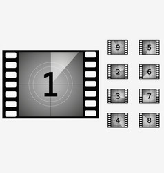 movie countdown timer vector image
