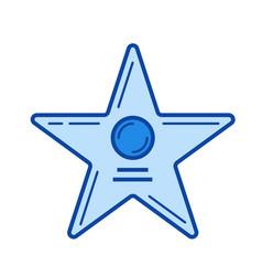 movie star line icon vector image