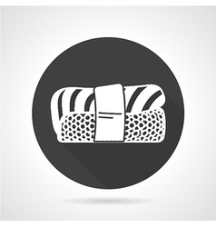 Nigiri sushi black icon vector image