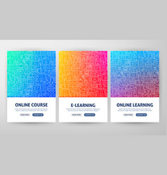 online education flyer concepts vector image