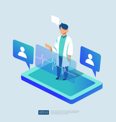 Online health care service and medical advice vector
