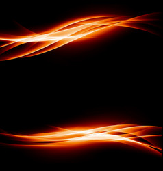 orange energy bright abstract background vector image