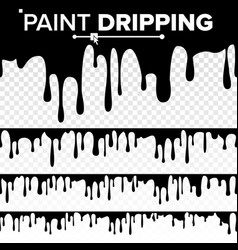 Paint dripping liquid abstract current vector